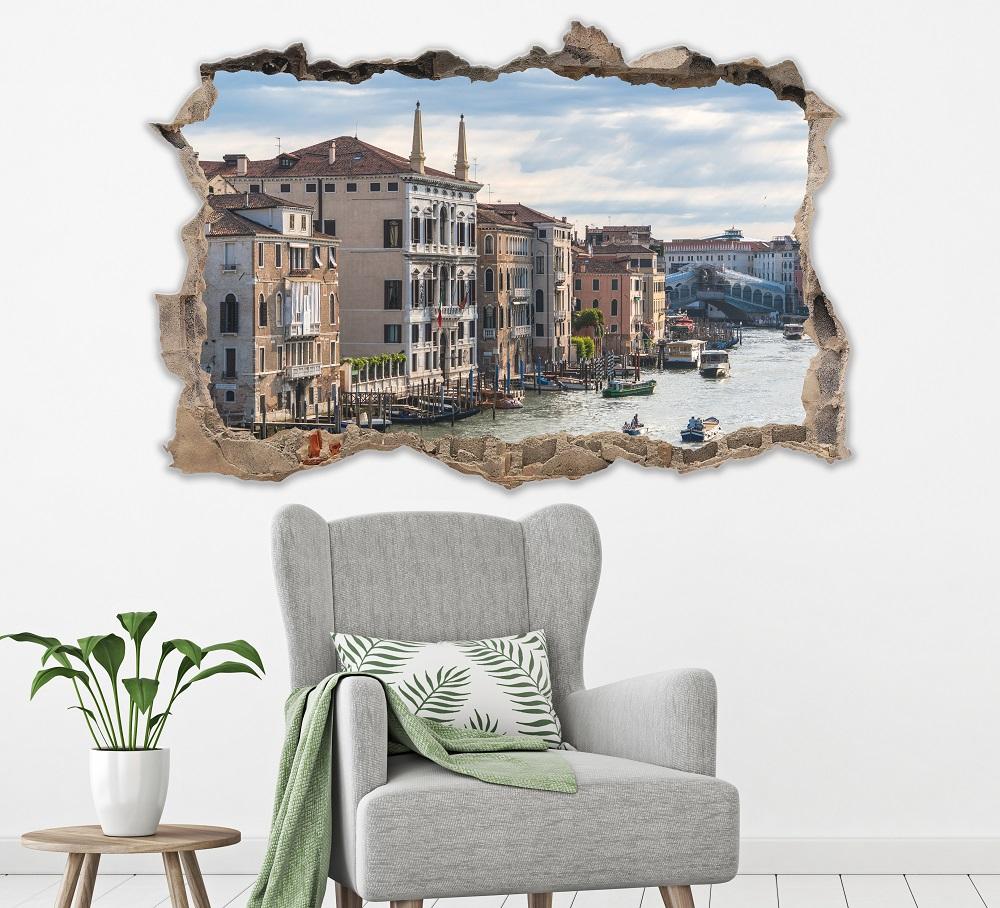מדבקת קיר שבור ונציה תלת מימד