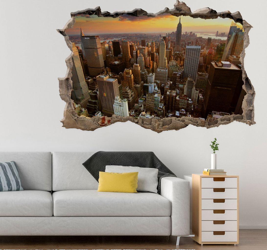 מדבקת קיר שבור ניו יורק