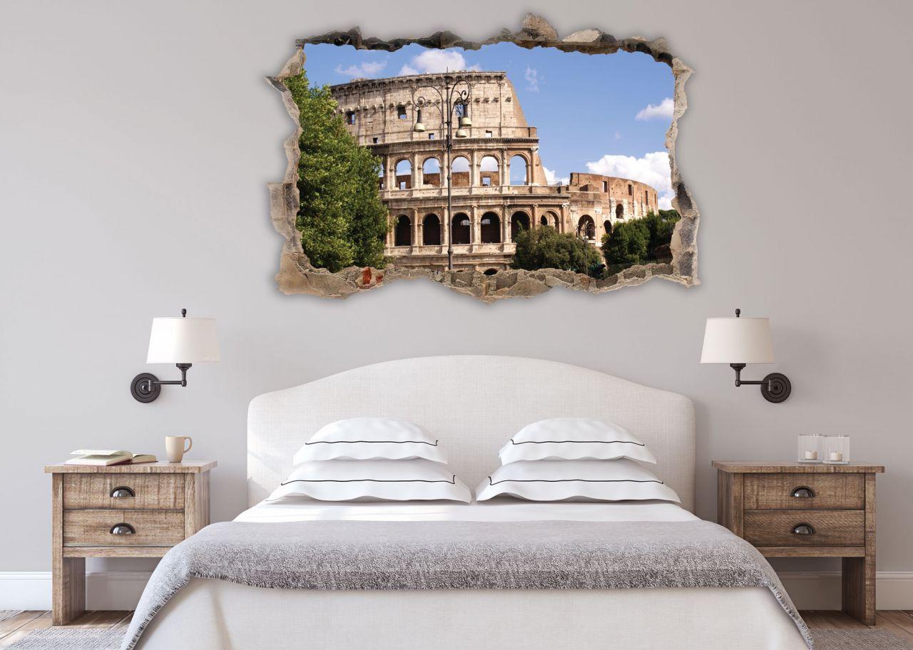 מדבקת קיר שבור תלת מימד רומא