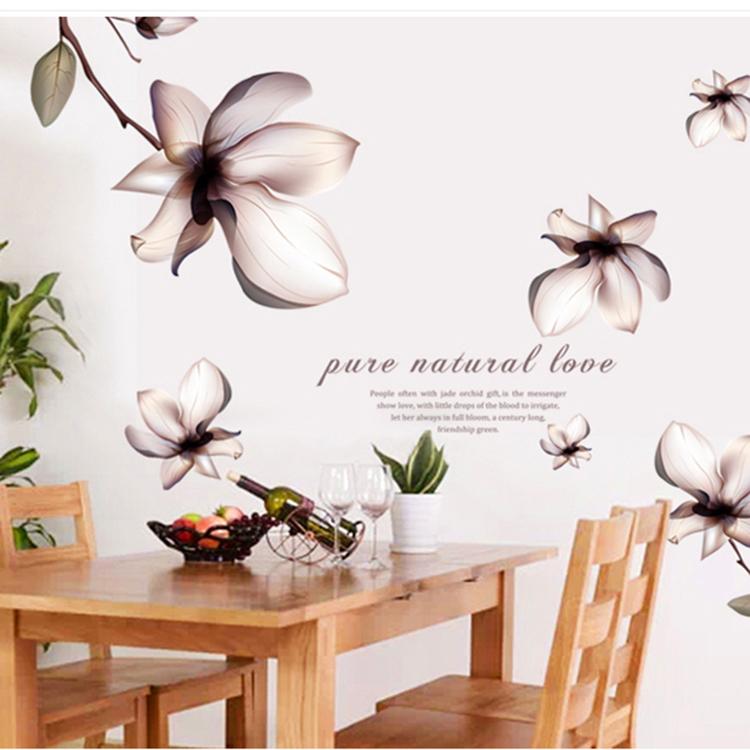 מדבקת קיר פרחים בהירים