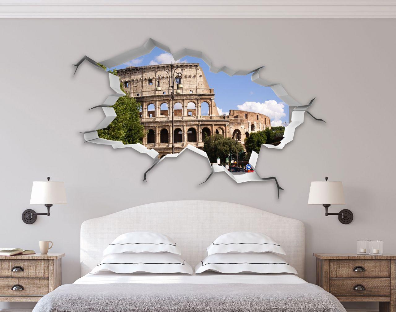מדבקת קיר שבור תלת מימד רומא 2