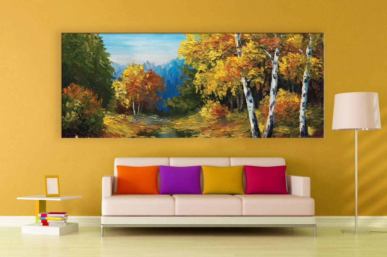 תמונת קנבס ציור שמן יער סתיו