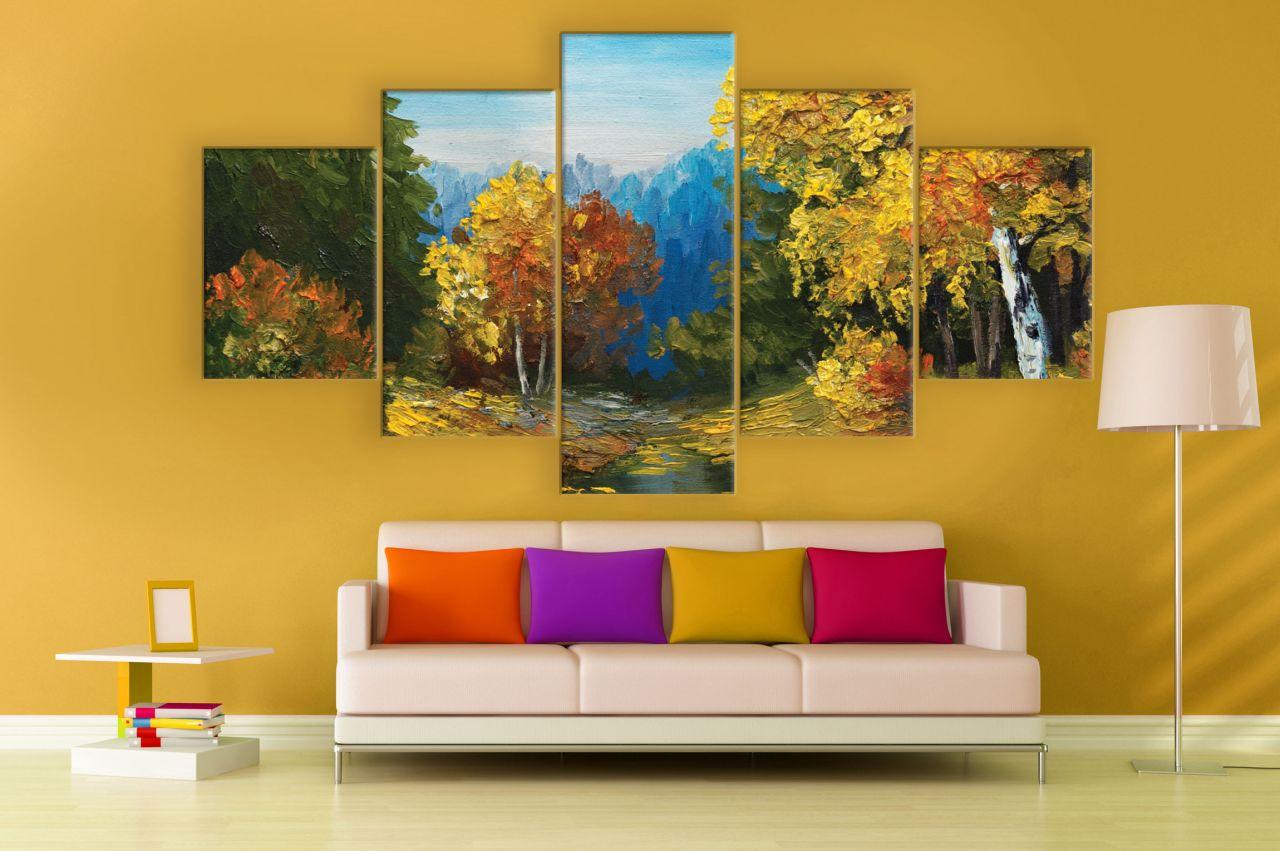 תמונת קנבס ציור שמן יער סתיו מחולקת