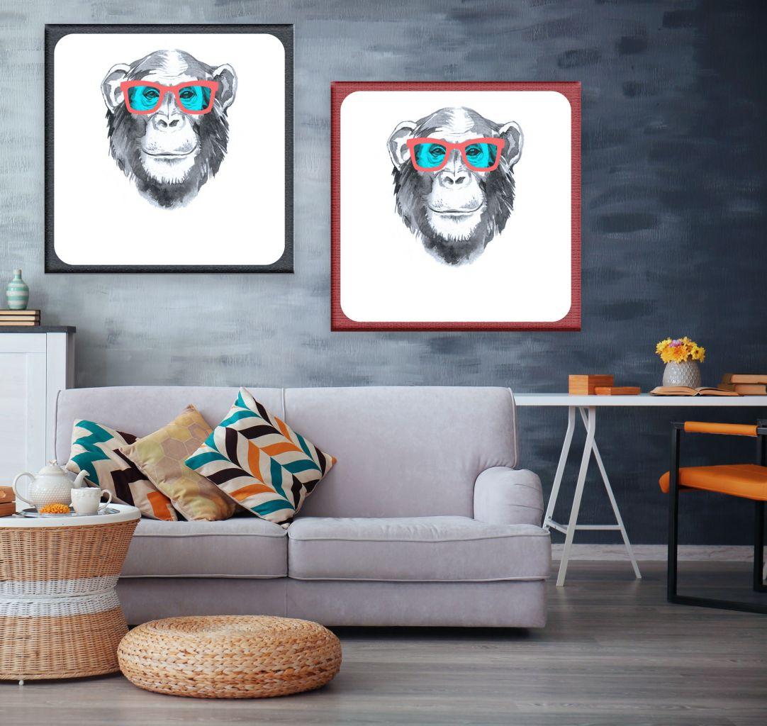 זוג תמונות קנבס Cool monkey