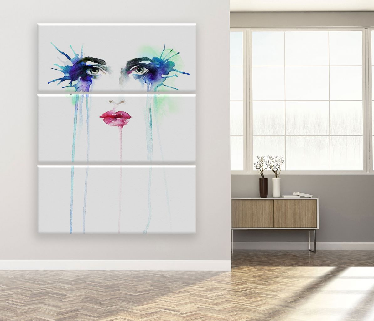תמונת קנבס ציור פנים של אישה
