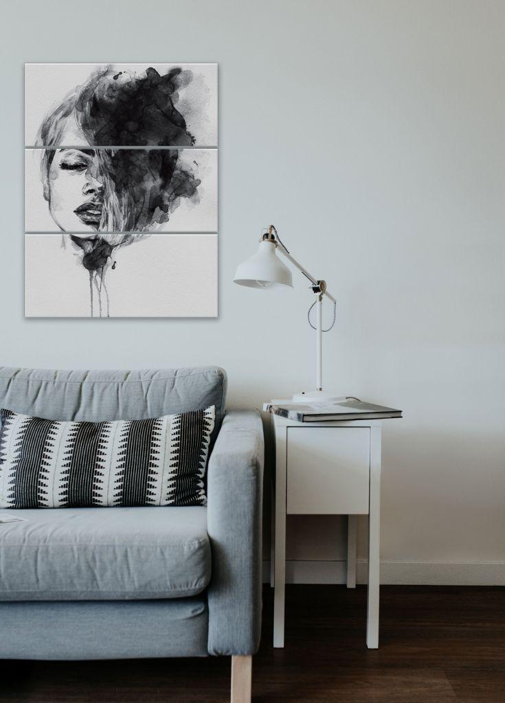 תמונת קנבס אישה בשחור לבן