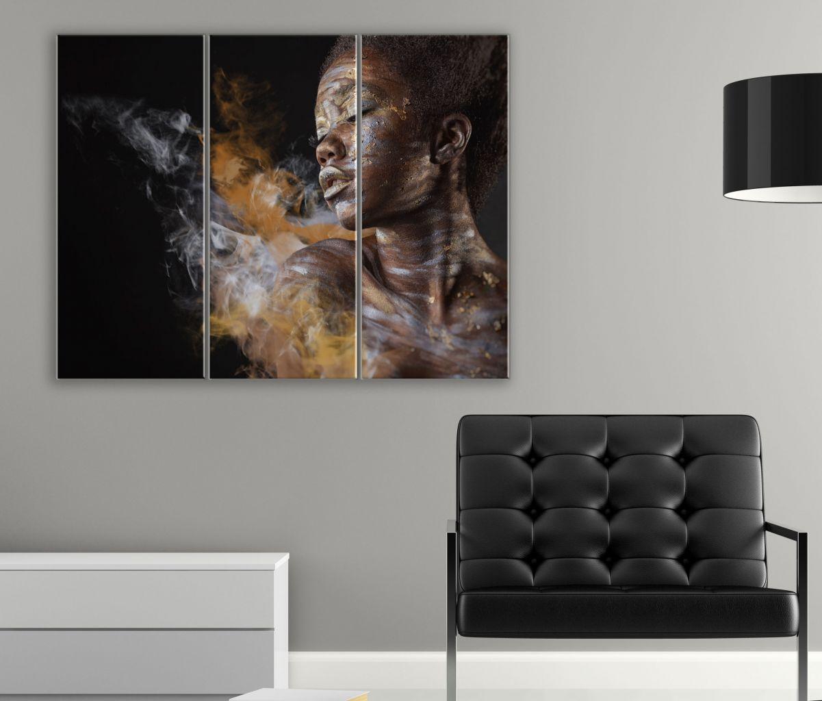 תמונת קנבס אומנותית אישה אפריקאית