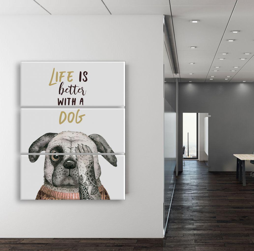 תמונת קנבס כלב מגניב