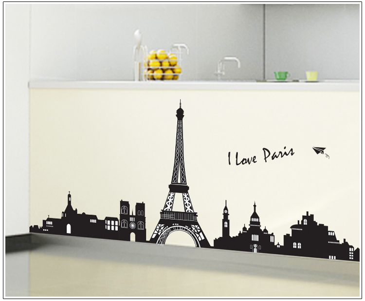 מדבקת קיר I LOVE PARIS