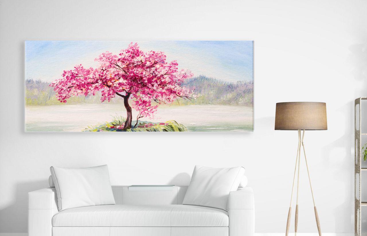 תמונת קנבס ציור שמן של עץ