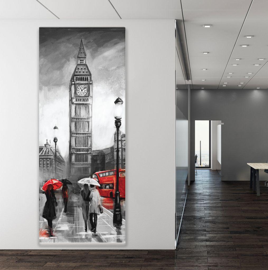 תמונת קנבס לונדון בשחור לבן