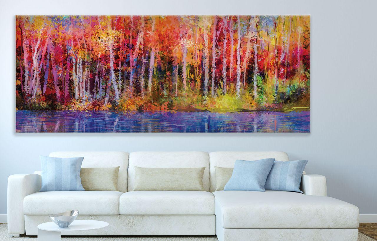 תמונת קנבס ציור שמן של יער