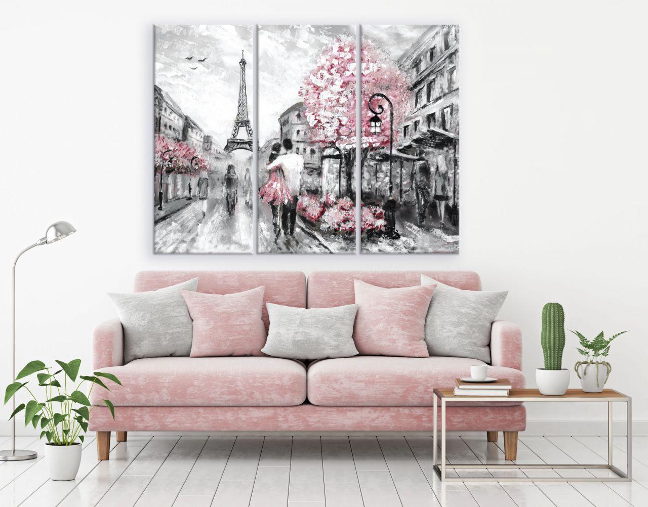 תמונת קנבס ציור שמן אהבה בפריז