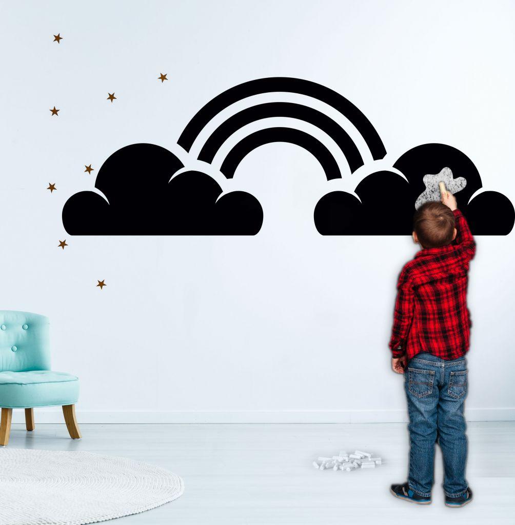 מדבקת קיר לוח גיר עננים