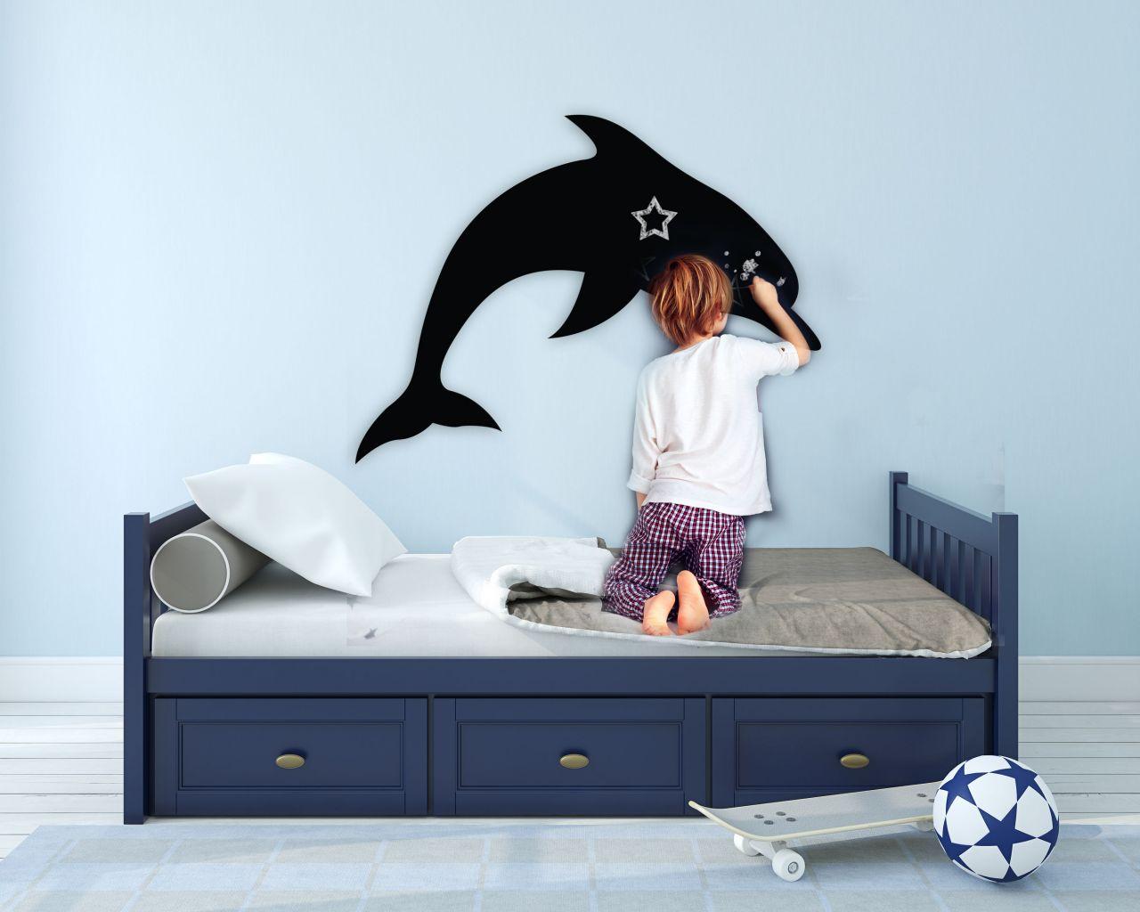 מדבקת קיר לוח גיר דולפין