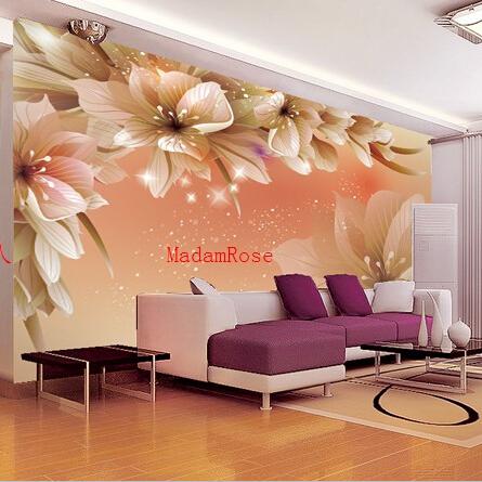 תמונת טפט פרחים כתומים תלת מימד