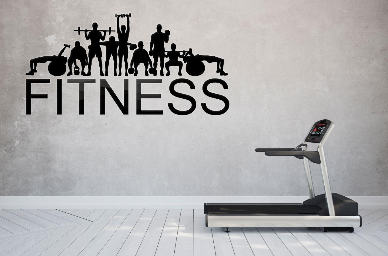 מדבקת קיר Fitness