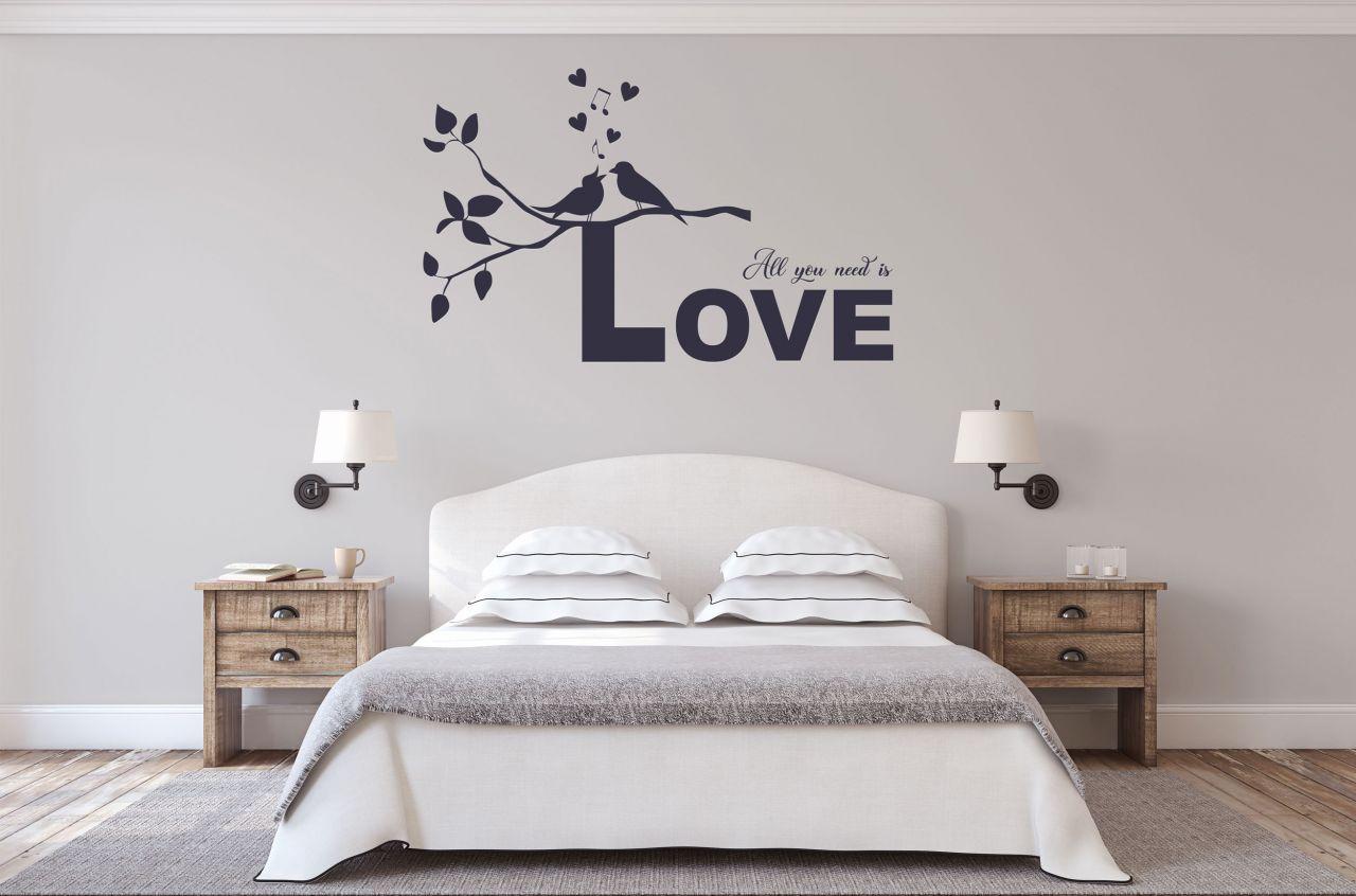 מדבקת קיר משפט All you need is love