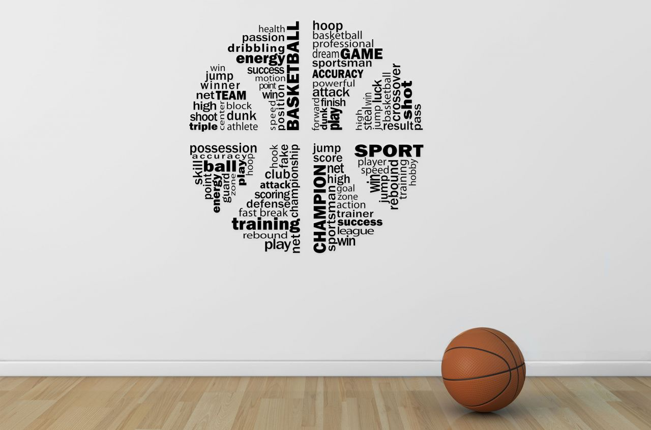 מדבקת קיר Play BasketBall