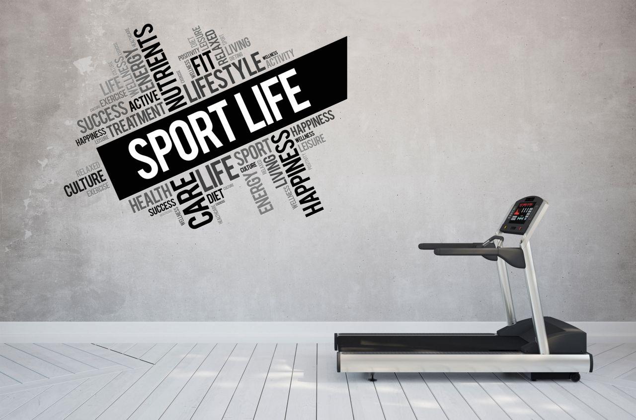 מדבקת קיר sport life