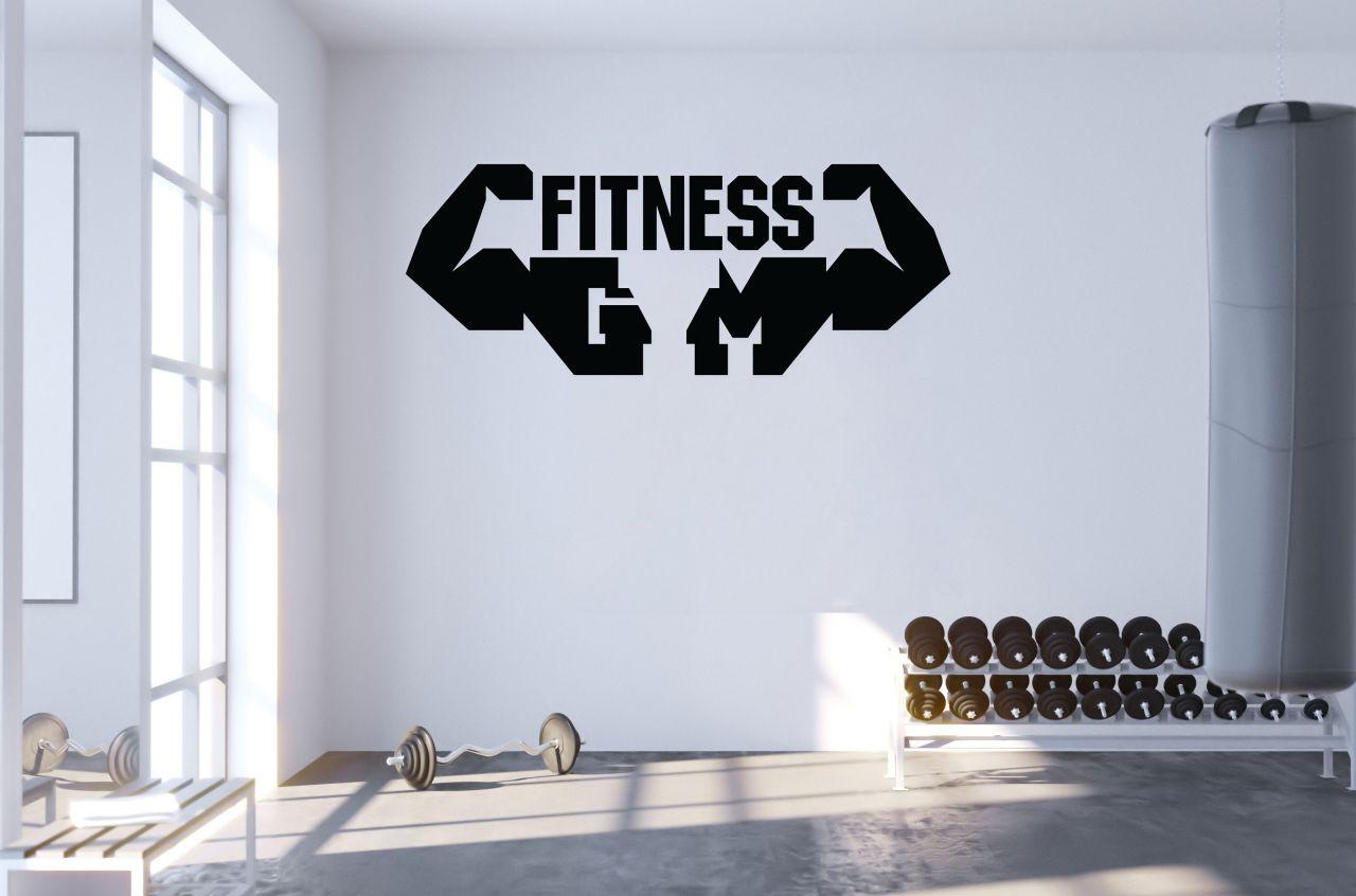 מדבקת קיר fitness muscles