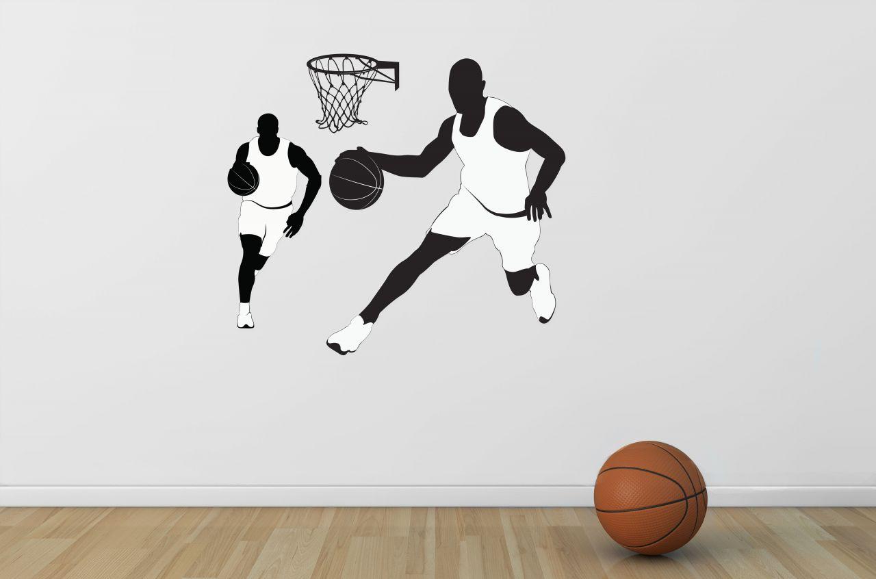 מדבקת קיר שחקני כדורסל