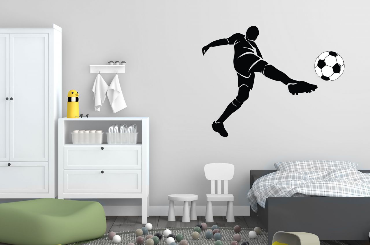 מדבקת קיר שחקן כדורגל