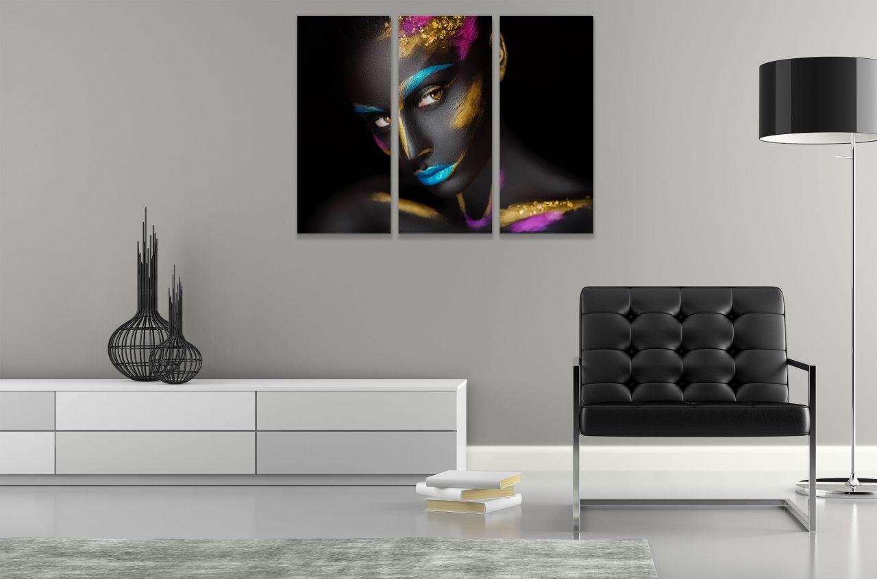 תמונת קנבס ציור אישה אפריקאית