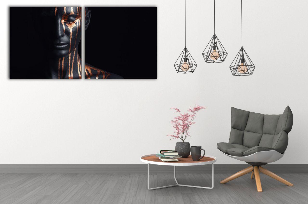 זוג תמונות קנבס ציור אומנותי אישה אפריקאית