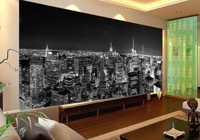 תמונת טפט ניו יורק שחור לבן תלת מימד