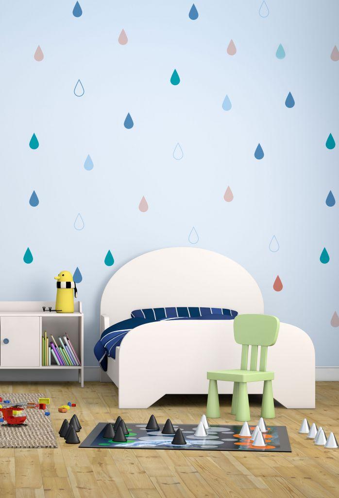 מדבקות קיר טיפות לחדרי ילדים