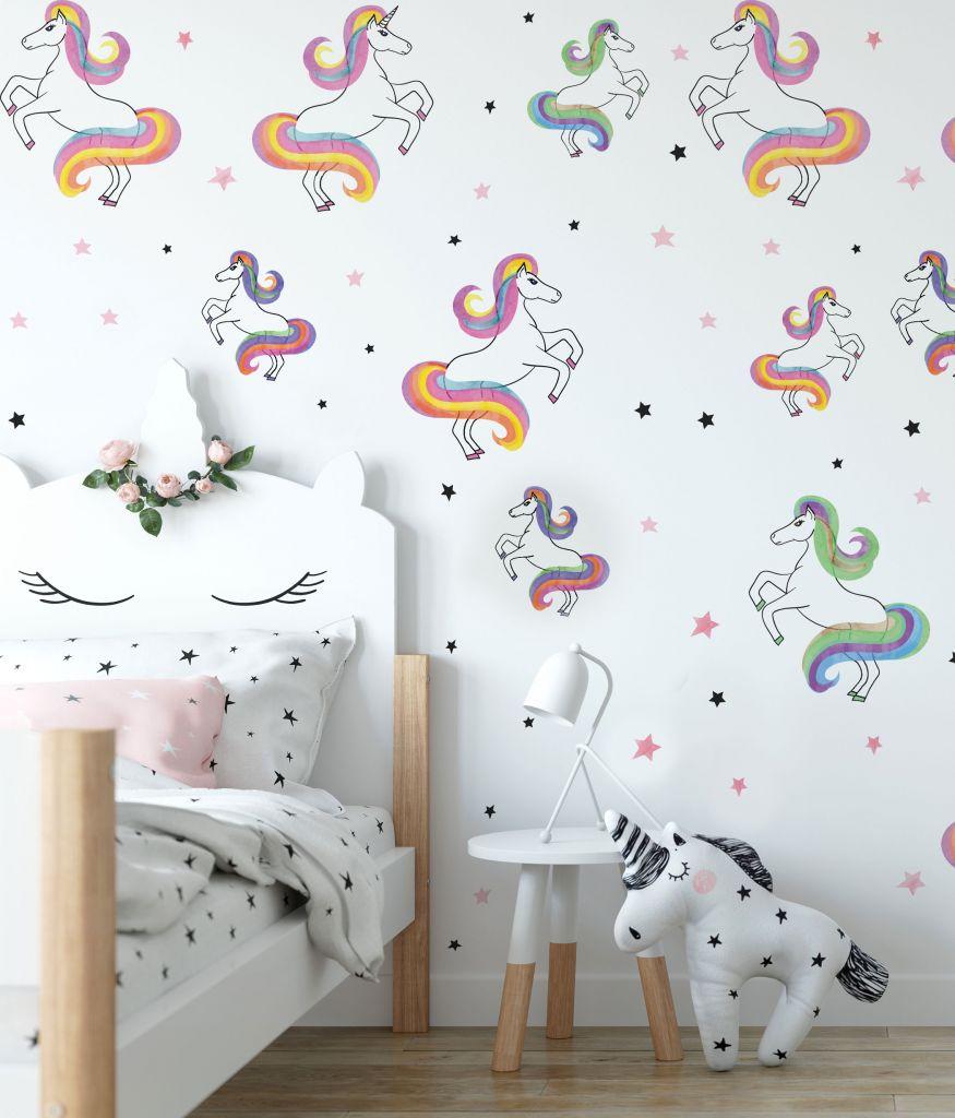 מדבקות קיר סוסי פוני לחדרי ילדים