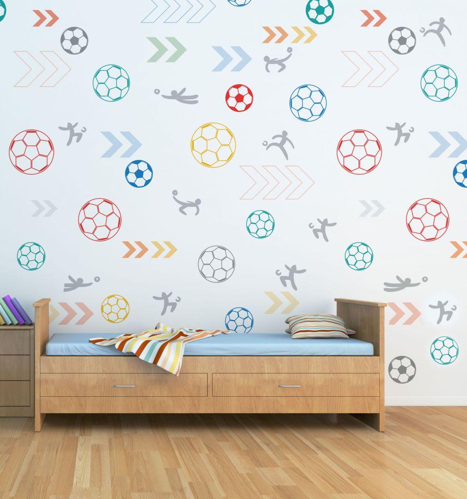 מדבקות קיר כדורגל לחדרי ילדים