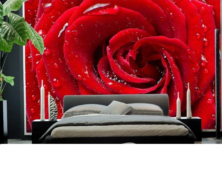 תמונת טפט שושנה אדומה תלת מימד