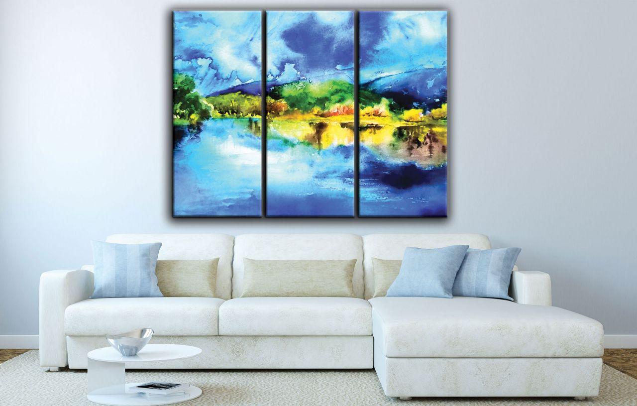 תמונת קנבס אבסטרקט ציור בצבעי מים