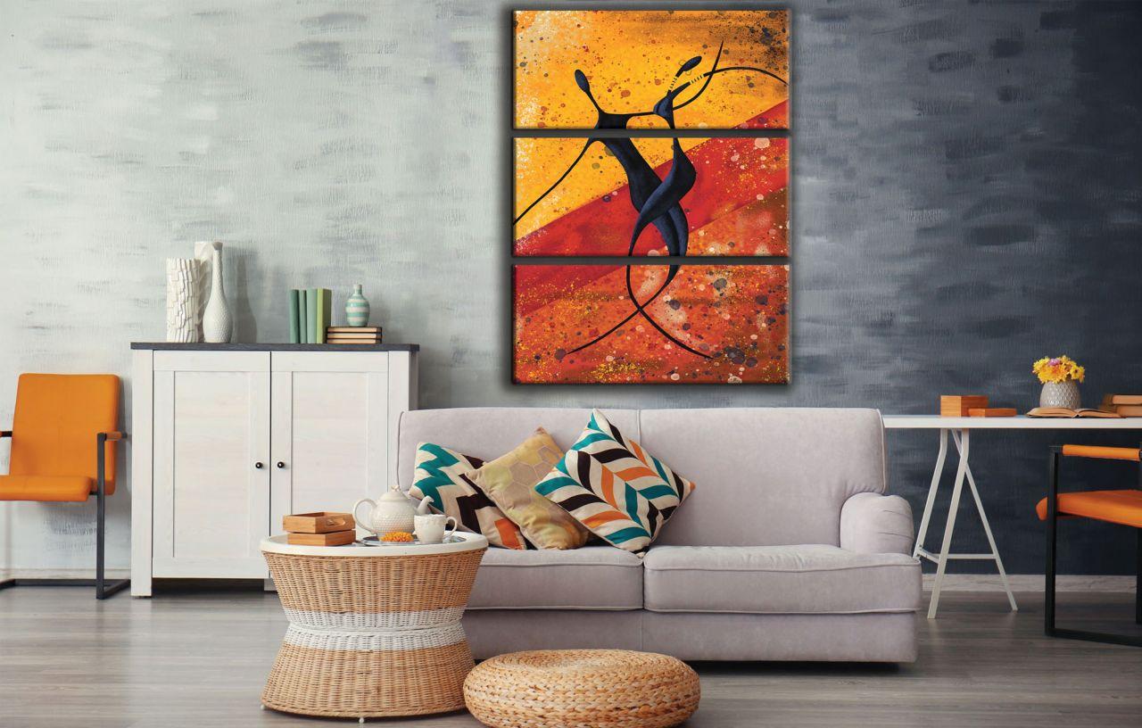 תמונת קנבס אבסטרקטי של זוג רוקד