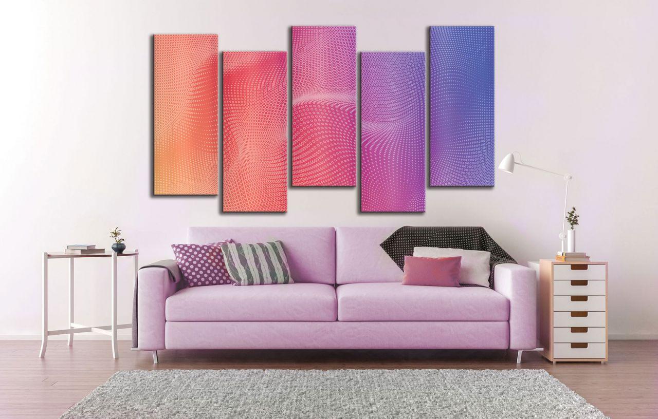 תמונת קנבס רקע אבסטרקטי בגוון ורוד