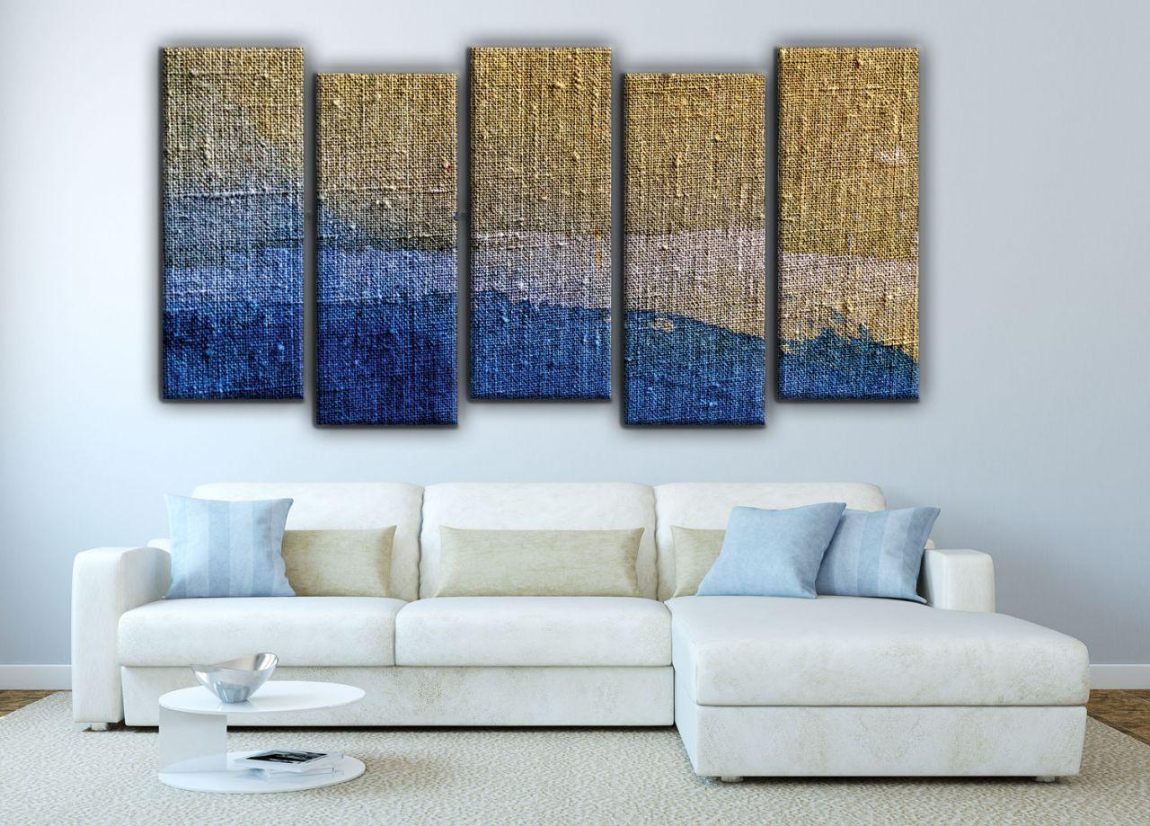 תמונת קנבס רקע כחול אבסטרקטי צבעי מים