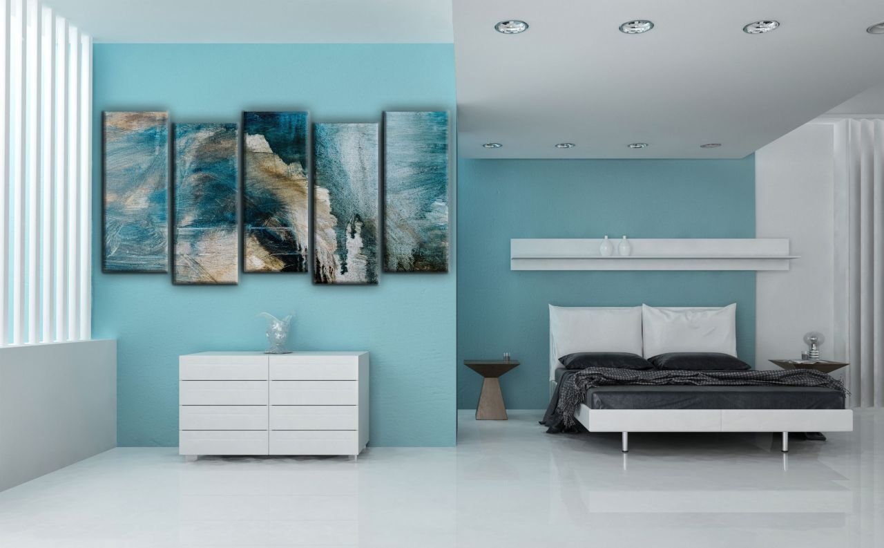 תמונת קנבס ציור מופשט בצבעי שמן