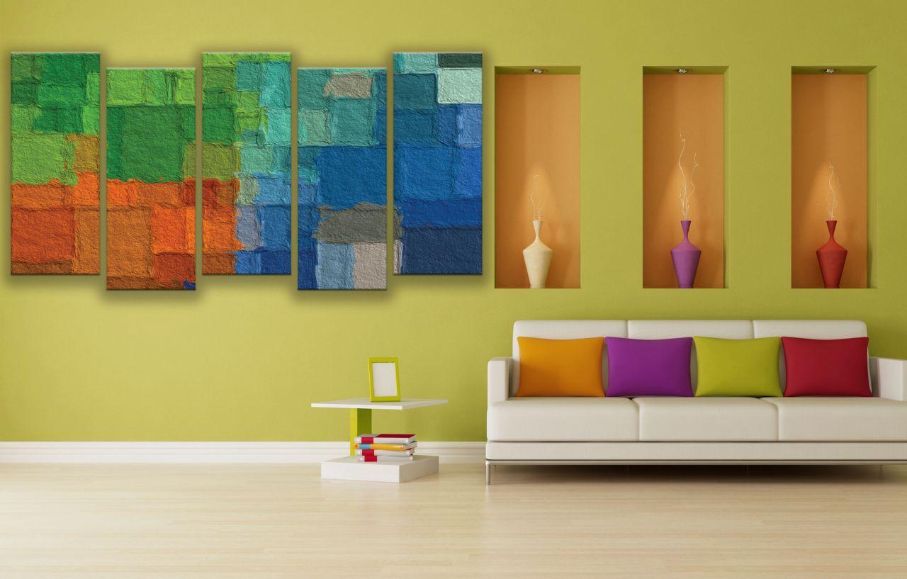תמונת קנבס קיר צבעוני מופשט