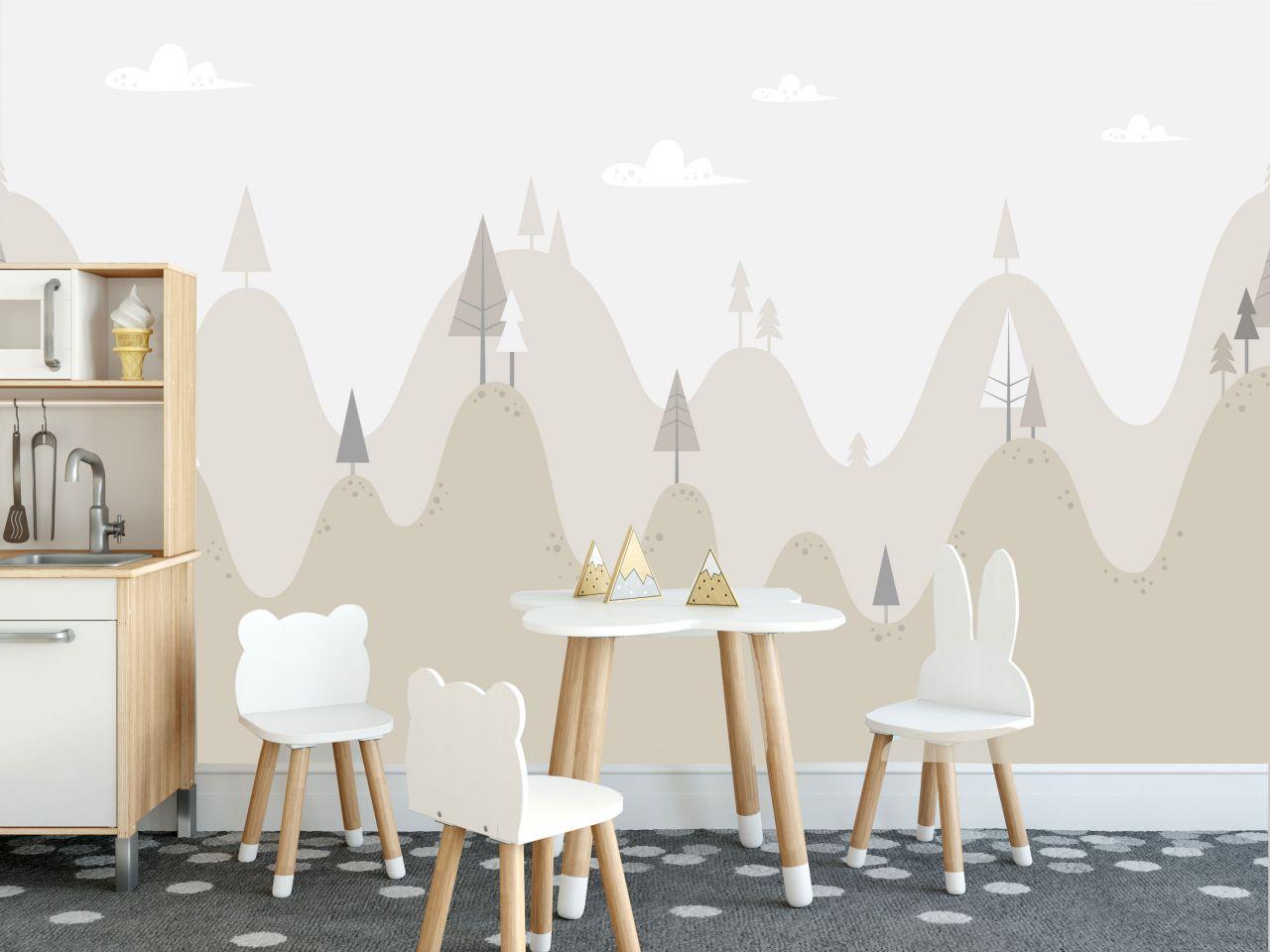 טפט רקע הרים ועצים
