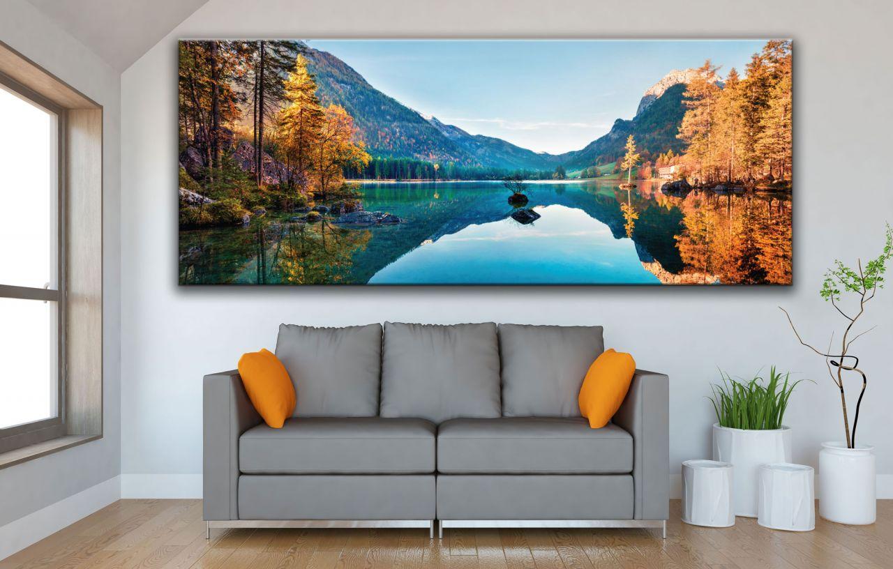 תמונת קנבס סתיו פנורמה על אגם Hintersee