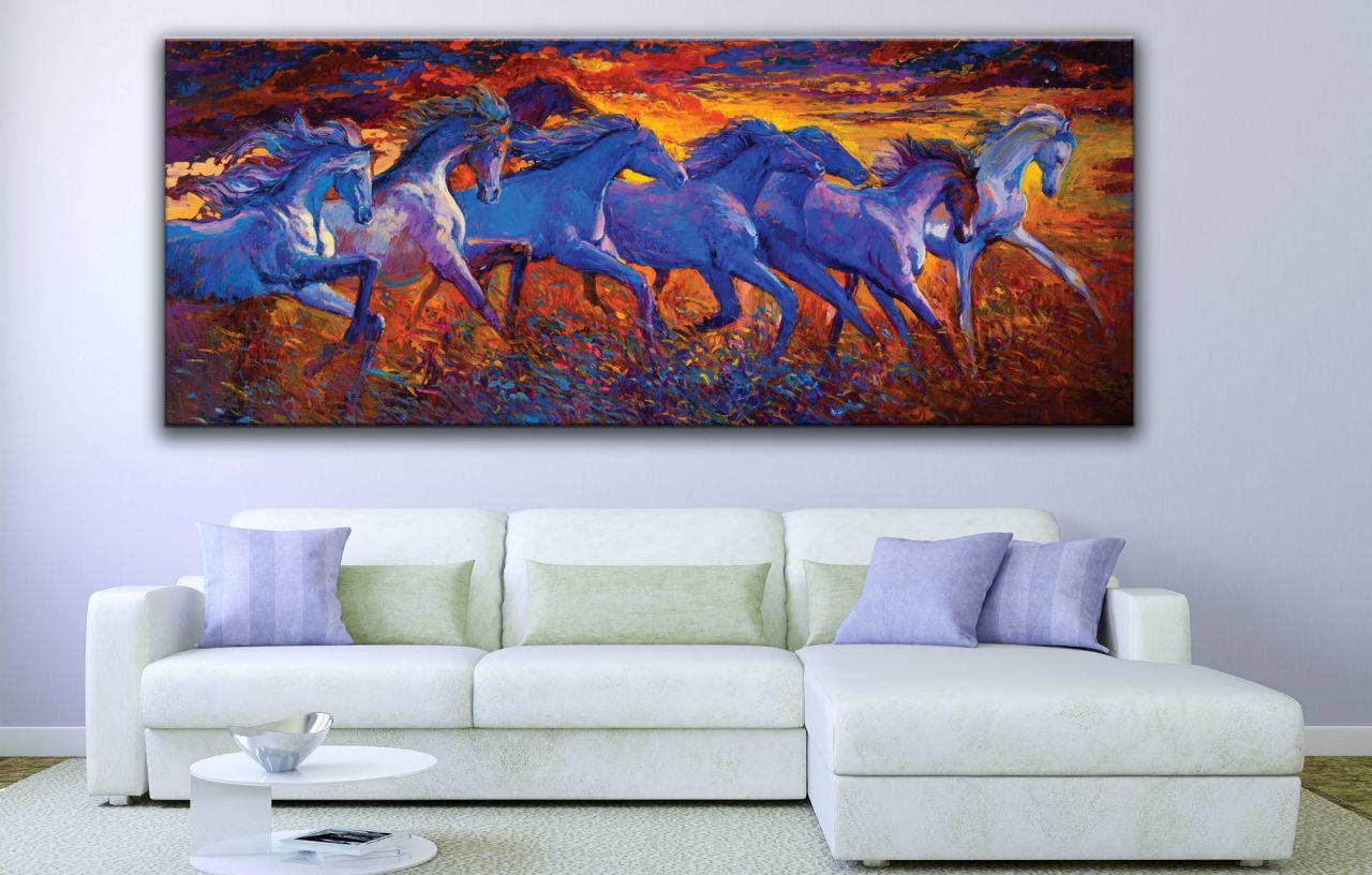תמונת קנבס סוסים דוהרים