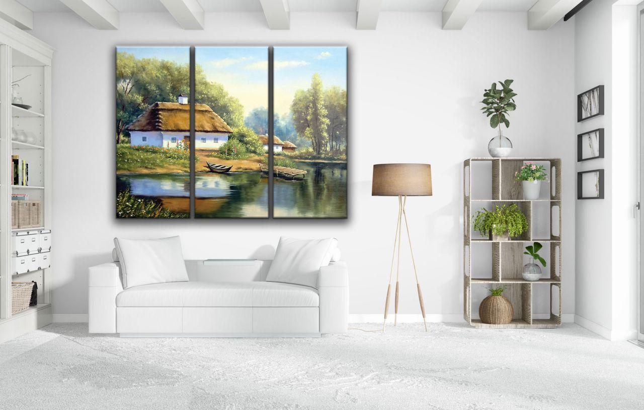 תמונת קנבס ציור בית ביער