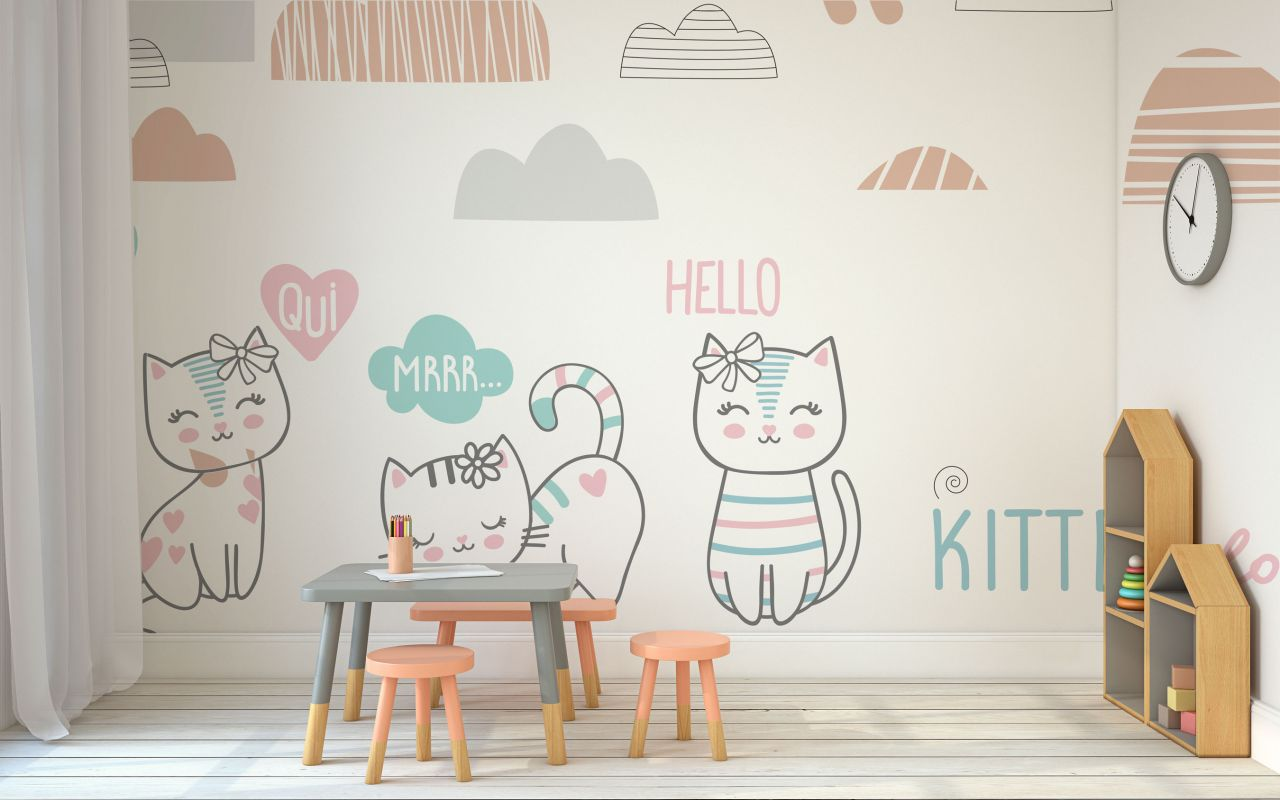 טפט kitten love