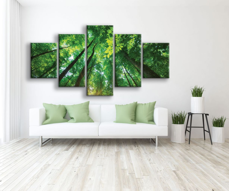 תמונת קנבס לתוך היער 5 חלקים