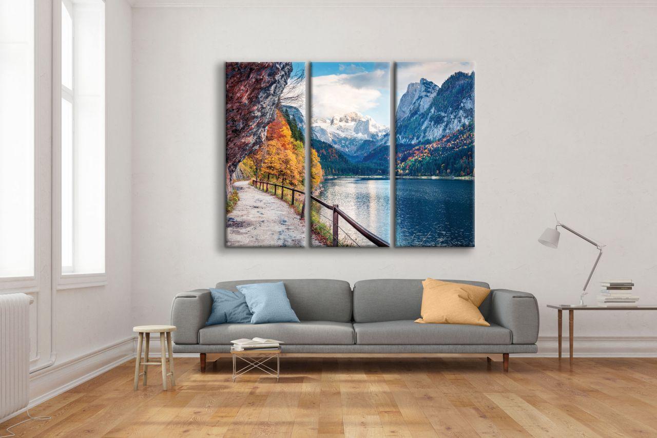 תמונת קנבס נוף ציורי האלפים מחולקת