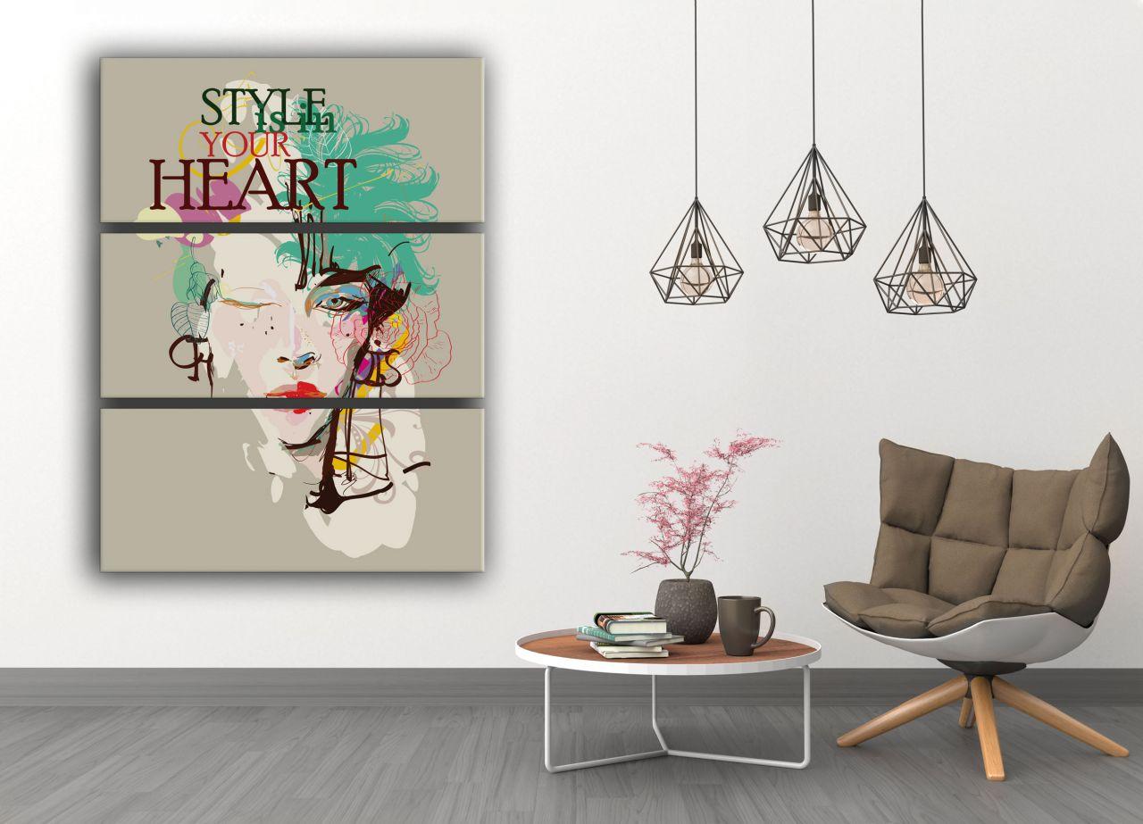 """תמונת קנבס פופ ארט""""style is in your heart"""""""