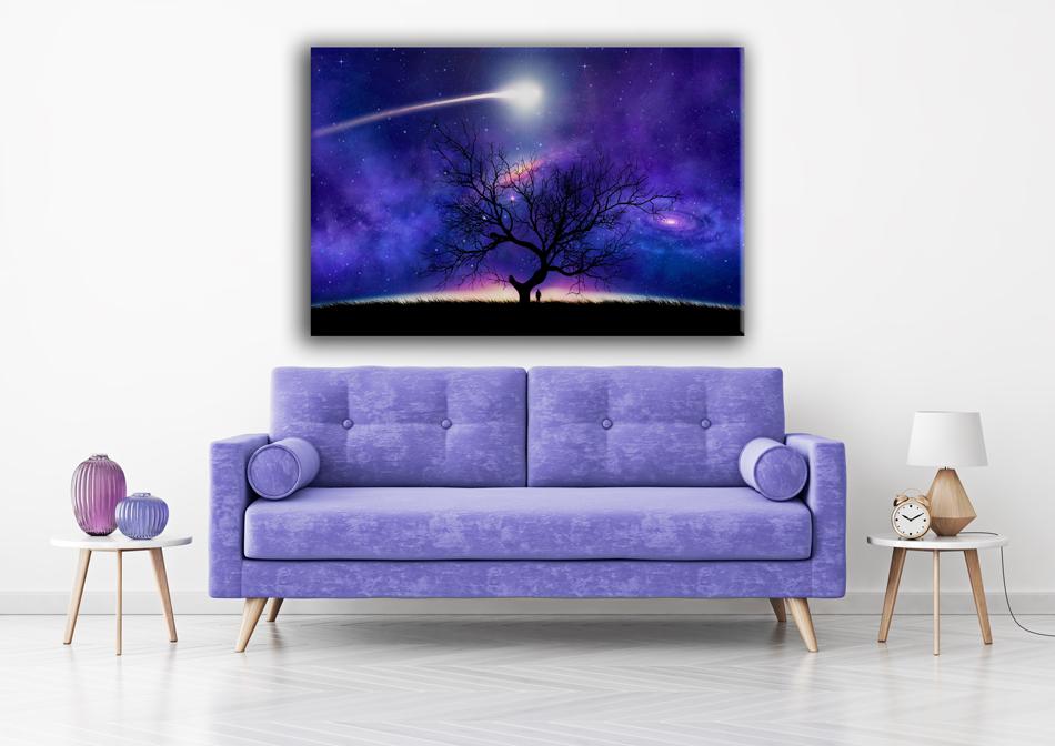 תמונות קנבס עץ אל החלל