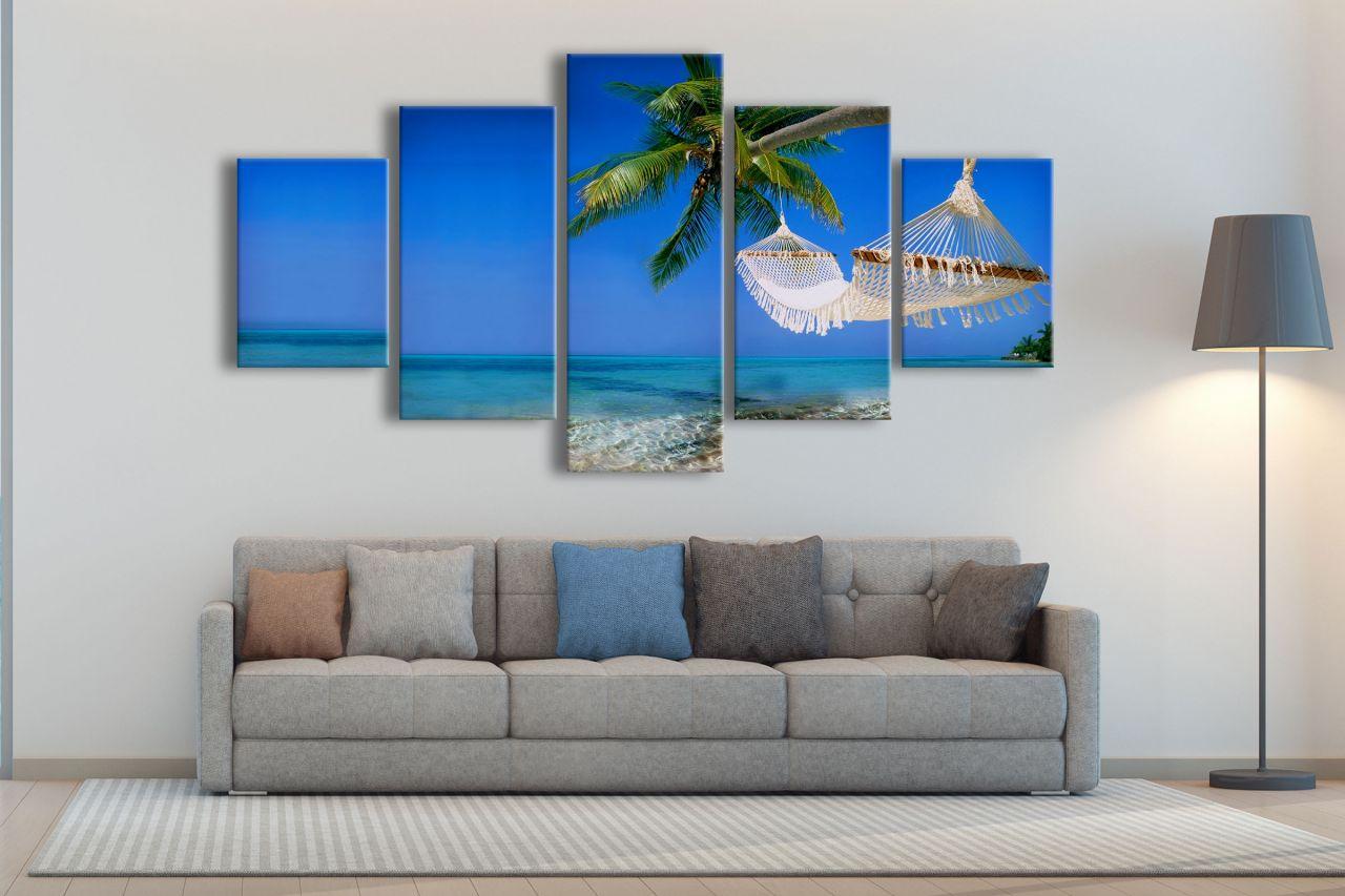תמונת קנבס שאנטי בהוואי 5 חלקים
